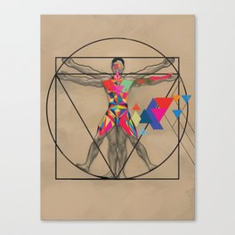 Vitruvian Man and a Burst of Color Canvas Print