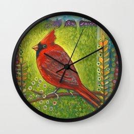 Dreaming of berries Wall Clock