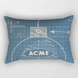 Acme Spherical Bomb vintage Blueprint Rectangular Pillow