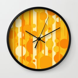 Stripes and circles color mode #4 Wall Clock
