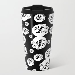 BLACK PINWHEEL  Metal Travel Mug