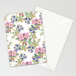 Painting lili flowers pattern Stationery Cards