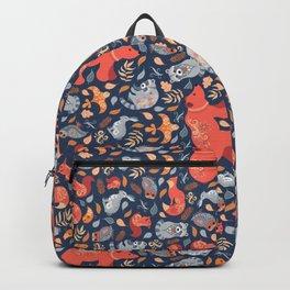 Fairy-tale forest. Folk Art. Backpack
