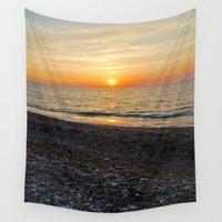 greek Wall Tapestries featuring Greek Sunset by M. Gold Photography