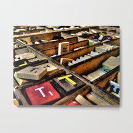Scrabble (HDR) Metal Print