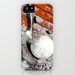 Modern Golf Art 3 iPhone Case
