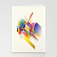 cello Stationery Cards featuring Cello Uno by Simon Vinh