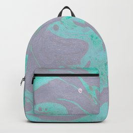 Mauve and Teal Marble Pattern Backpack