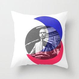 Malcom X - Shouts of Glory Throw Pillow