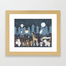 the twilight parade Framed Art Print