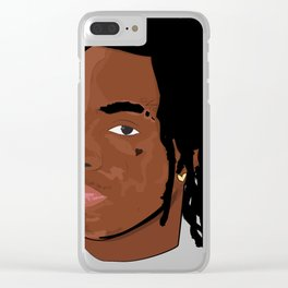 Hood Rich Rapper Illustration Clear iPhone Case