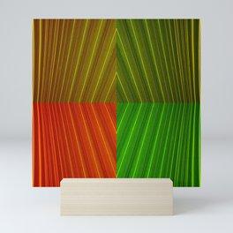 Leaf Texture with 04 colors Mini Art Print