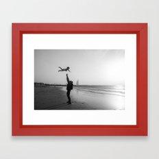 Flying baby Framed Art Print