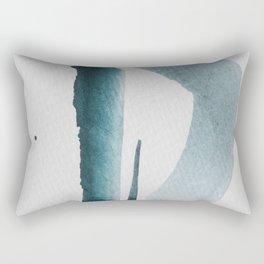 aquarelle meets pencil - mint.jpg Rectangular Pillow