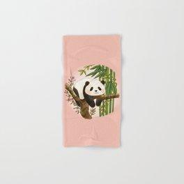 Panda under sunlight - Pink Hand & Bath Towel
