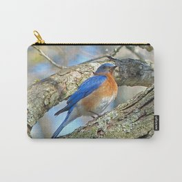 Bluebird in Tree Carry-All Pouch