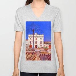 Joan Miro House with Palm Tree Unisex V-Neck