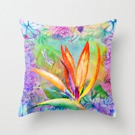 Bird of paradise i Throw Pillow