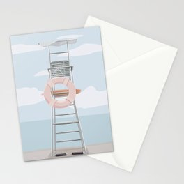 Pastel Beach Day Stationery Cards