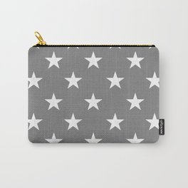 Stars (White/Gray) Carry-All Pouch