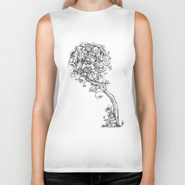 The Story Of Ferdinand (Psychedelic Bull Drawing) Biker Tank