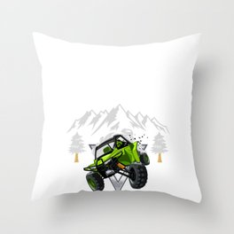 Weekends Are For Riding 4 Wheeling UTV Side by Sides Designs Throw Pillow