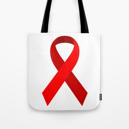 Red Awareness Support Ribbon Tote Bag