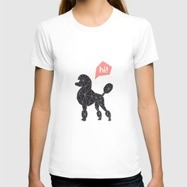 Hi! poodle T-shirt