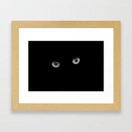 green cat's eyes Framed Art Print