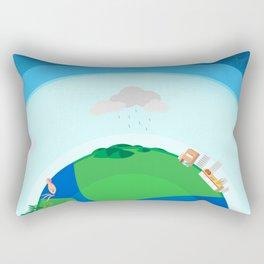 Nano Planet Rectangular Pillow