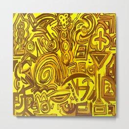 Yellow symbols Metal Print