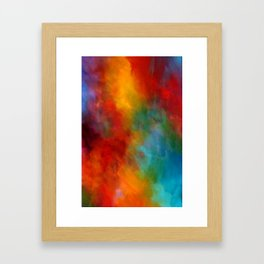 Lovely Colorful Clouds Two - Digital Abstract Painting Framed Art Print