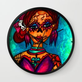 Lady Day of the Dead Wall Clock