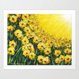 Field of Yellow Flowers Art Print