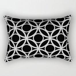 Black and Gray Circular Pattern Rectangular Pillow