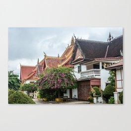 Wat Si Saket Monastery, Vientiane, Laos Canvas Print
