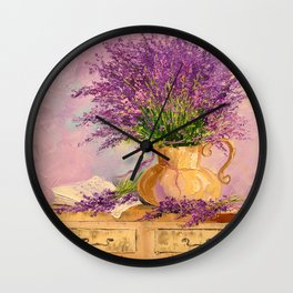 A bouquet of lavender Wall Clock