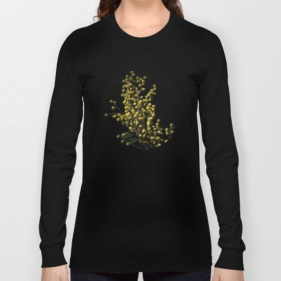Silver Wattle Flowers Long Sleeve T-shirt
