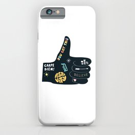 Positivity Thumbs Up iPhone Case