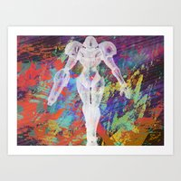 metroid Art Prints featuring Metroid by Bradley Bailey