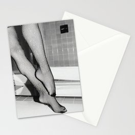Woman legs in pantyhose Stationery Cards