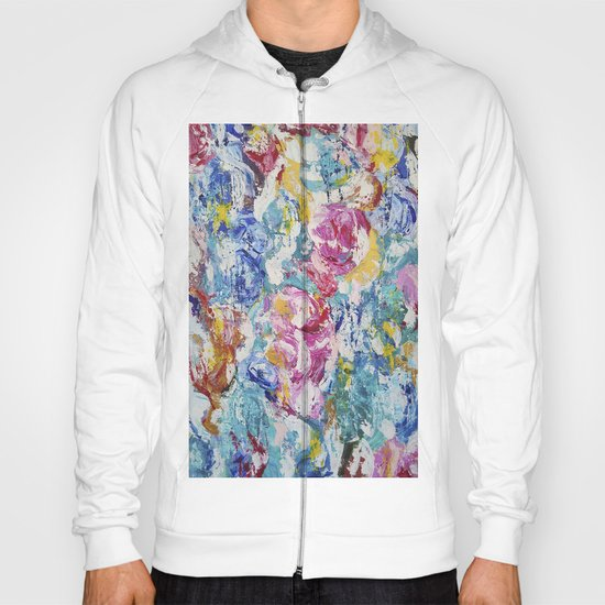 Abstract floral painting Hoody