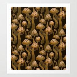 Shrooms Pattern Art Print