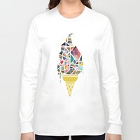icecream Long Sleeve T-shirts featuring icecream by StraySheep