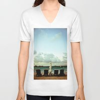 relax V-neck T-shirts featuring Relax by Rick Staggs