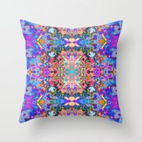 trippy Throw Pillows featuring TRIPPY by IZZA
