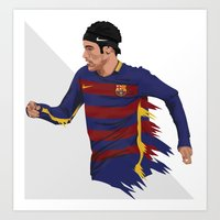 neymar Art Prints featuring Neymar  by siddick49
