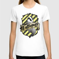 hufflepuff T-shirts featuring Hufflepuff Crest by AriesNamarie