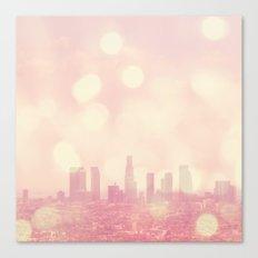 City of Dreamers. Los Angeles skyline photograph Canvas Print