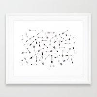 arrows Framed Art Prints featuring Arrows by Justine Lecouffe